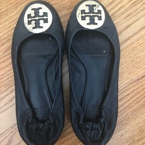 Tory Burch Black Reva Flats 7 women